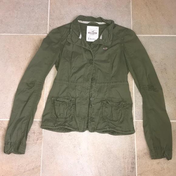 hollister khaki jacket